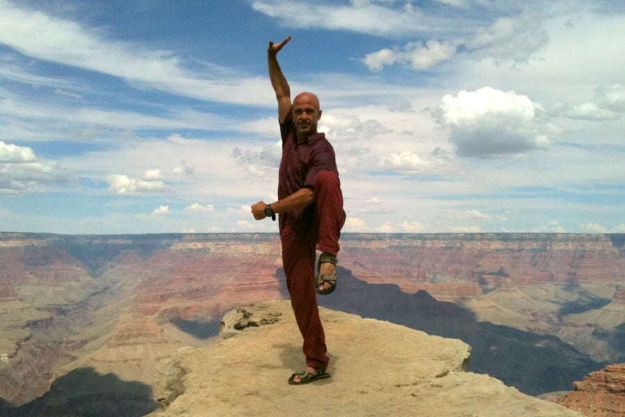 Il maestro sul Grand Canyon